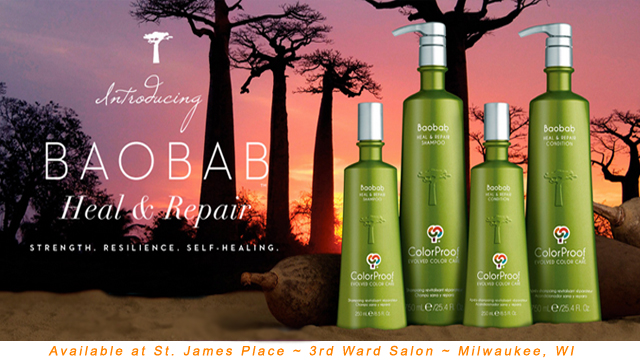 ColorProof Baobab available at St. James Place Salon