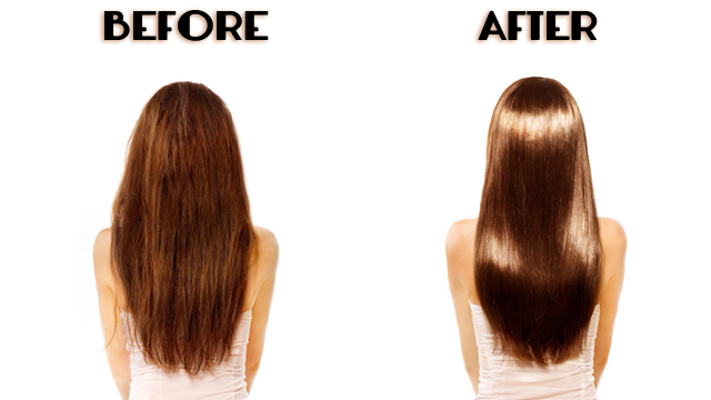 Before& After Glycolic Hair Treatment