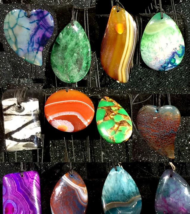Natural Charms, Natural Pendants, Natural Talismans, Crystals, Agate, Tiger Eye, Onyx, Quartz, Jasper