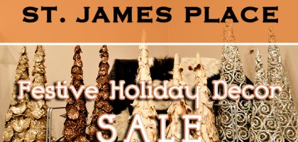 Holiday Decor Sale at St. James Place in Milwaukee's Historic Third Ward
